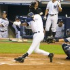 Signature Jeter swing. Too bad he fouled it off